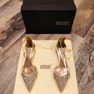 Badgley Mischka kitten heels.